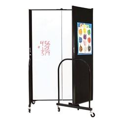 """6' H Wet Erase Tackable Portable Partition - Three Panels (5' 9"""" L)"""