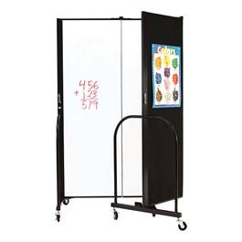 """6\' H Wet Erase Tackable Portable Partition - Three Panels (5\' 9\"""" L)"""