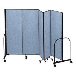 """6\' H Freestanding Portable Partition - Five Panels (9\' 5\"""" L) - Promo"""