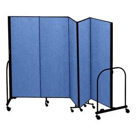 """8\' H Freestanding Portable Partition - Five Panels (9\' 5\"""" L)"""
