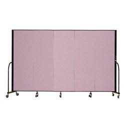 """6' H Freestanding Portable Partition - Five Panels (9' 5"""" L)"""