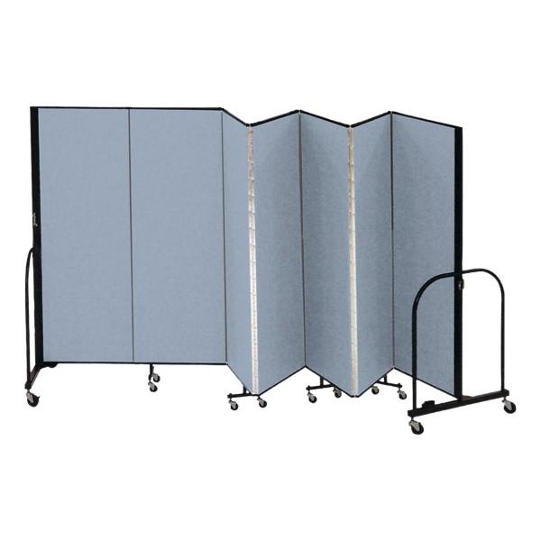 """6' H Freestanding Portable Partition - Seven Panels (13' 1"""" L)"""