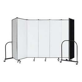"6\' H Wet Erase Tackable Portable Partition - Seven Panels (13\' 1"" L)"
