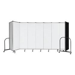 """6' H Wet Erase Tackable Portable Partition – Nine Panels (16' 9"""" L)"""