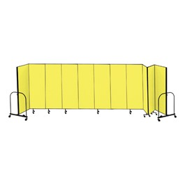 "6\' 8"" H Freestanding Portable Partition - 11 Panels (20\' 5\"" L)"
