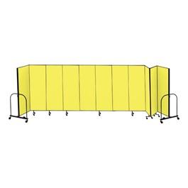 """6\' 8\"""" H Freestanding Portable Partition - 11 Panels (20\' 5\"""" L)"""