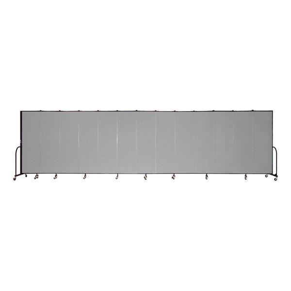 """6' 8"""" H Freestanding Portable Partition - 11 Panels (20' 5"""" L)"""