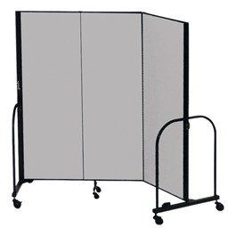 """6\' 8\"""" H Freestanding Portable Partition - Three Panels (5\' 9\"""" L)"""