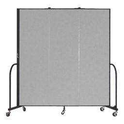 """6' 8"""" H Freestanding Portable Partition - Three Panels (5' 9"""" L)"""