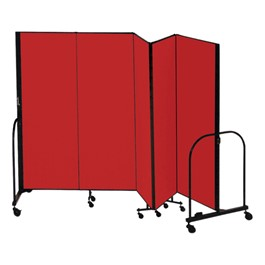 "6\' 8"" H Freestanding Portable Partition - Five Panels (9\' 5\"" L)"
