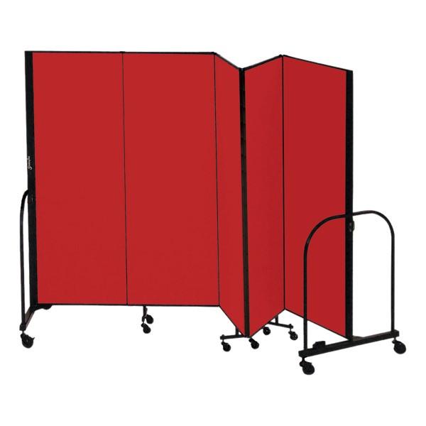 """6' 8"""" H Freestanding Portable Partition - Five Panels (9' 5"""" L)"""