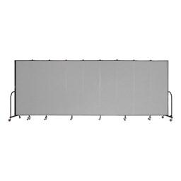 """6' 8"""" H Freestanding Portable Partition - Nine Panels (16' 9"""" L)"""