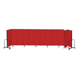 "7' 4"" H Freestanding Portable Partition - 13 Panels (24' 1"" L)"