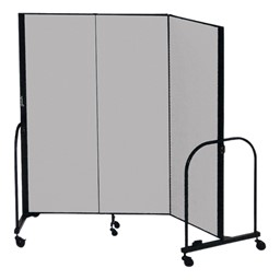 "7' 4"" H Freestanding Portable Partition - Three Panels (5' 9"" L)"