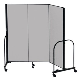 """7\' 4\"""" H Freestanding Portable Partition - Three Panels (5\' 9\"""" L)"""