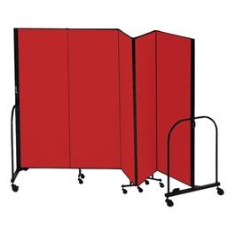 """7\' 4\"""" H Freestanding Portable Partition - Five Panels (9\' 5\"""" L)"""
