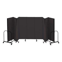 """7' 4"""" H Freestanding Portable Partition - Nine Panels (16' 9"""" L)"""