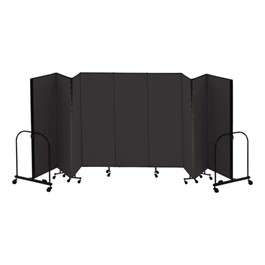 "7\' 4"" H Freestanding Portable Partition - Nine Panels (16\' 9\"" L)"