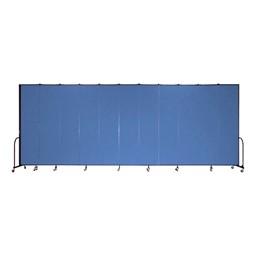 """8' H Freestanding Portable Partition - 11 Panels (20' 5"""" L)"""