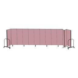 """8' H Freestanding Portable Partition - 13 Panels (24' 1"""" L)"""