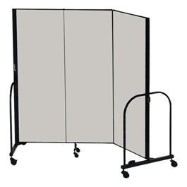 """8\' H Freestanding Portable Partition - Three Panels (5\' 9\"""" L)"""
