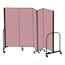 """8\' H Freestanding Portable Partition - Five Panels (9\' 5\"""" L) - Promo"""