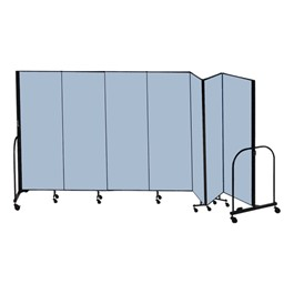 "8\' H Freestanding Portable Partition - Seven Panels (13\' 1"" L) - Promo"