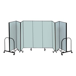 "8\' H Freestanding Portable Partition - Nine Panels (16\' 9"" L) - Promo"