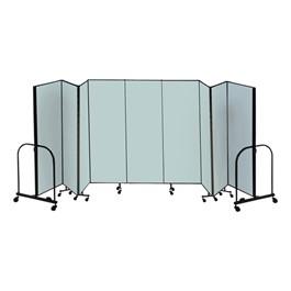 """8\' H Freestanding Portable Partition - Nine Panels (16\' 9\"""" L)"""