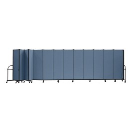 "6\' H Heavy-Duty Freestanding Portable Partition - 13 Panels (24\' 1"" L)"