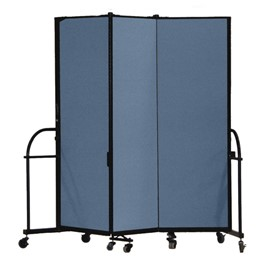 "6\' H Heavy-Duty Freestanding Portable Partition - Three Panels (5\' 9"" L)"
