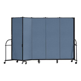 "6\' H Heavy-Duty Freestanding Portable Partition - Five Panels (9\' 5"" L)"