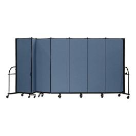 """6\' H Heavy-Duty Freestanding Portable Partition - Seven Panels (13\' 1\"""" L)"""