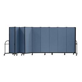 """6\' H Heavy-Duty Freestanding Portable Partition - Nine Panels (16\' 9\"""" L)"""