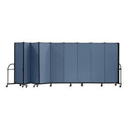 "6\' H Heavy-Duty Freestanding Portable Partition - Nine Panels (16\' 9"" L)"