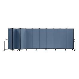 """7\' 4\"""" H Heavy-Duty Freestanding Portable Partition - 11 Panels (20\' 5\"""" L)"""