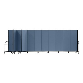 "7\' 4"" H Heavy-Duty Freestanding Portable Partition - 11 Panels (20\' 5\"" L)"