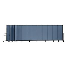 """7\' 4\"""" H Heavy-Duty Freestanding Portable Partition - 13 Panels (24\' 1\"""" L)"""