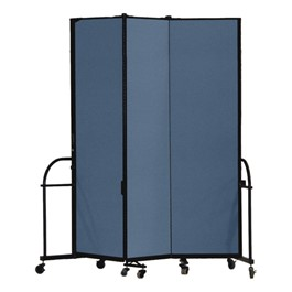 "7\' 4"" H Heavy-Duty Freestanding Portable Partition - Three Panels (5\' 9\"" L)"