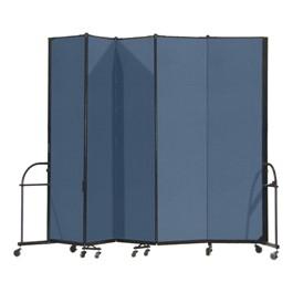 """7\' 4\"""" H Heavy-Duty Freestanding Portable Partition - Five Panels (9\' 5\"""" L)"""