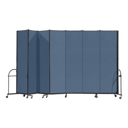 "7\' 4"" H Heavy-Duty Freestanding Portable Partition - Seven Panels (13\' 1\"" L)"