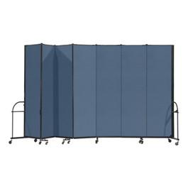 """7\' 4\"""" H Heavy-Duty Freestanding Portable Partition - Seven Panels (13\' 1\"""" L)"""