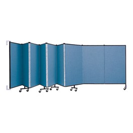 4\' H Wall-Mount Partition - Shown w/ 9 Panels