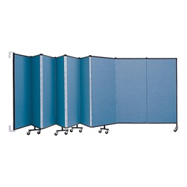 5\' H Wall-Mount Partition - Shown w/ 9 Panels