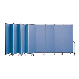 """6\' 8\"""" H Wall-Mount Partition - 11 Panels"""