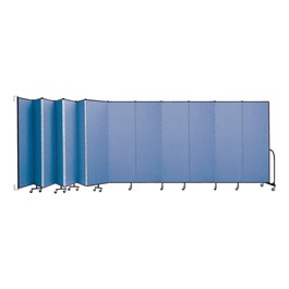 """6\' 8\"""" H Wall-Mount Partition - 13 Panels"""