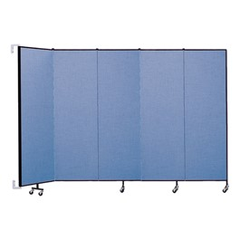 "6\' 8"" H Wall-Mount Partition - Five Panels"