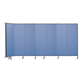 """6\' 8\"""" H Wall-Mount Partition- Seven Panels"""