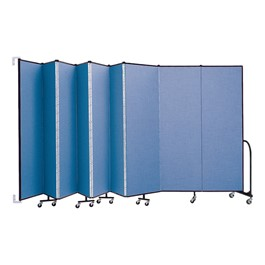 """6\' 8\"""" H Wall-Mount Partition - Shown w/ 9 Panels"""