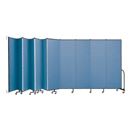 """7\' 4\"""" H Wall-Mount Partition - 11 Panels"""
